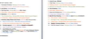 Blurry MoC 2014 Set List